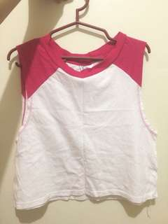 H&M Cropped Muscle Tee