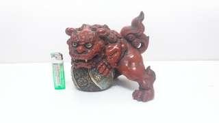 日本九谷燒瓷器獅子