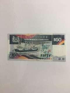 Singapore Ship series $50