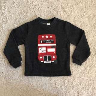 London Bus winter fleece top