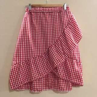 (BRAND NEW) Red gingham skirt