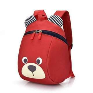 💞Online sale 320💞  🎀Bear print anti lost children's bag🎀 🌷Nylon material 🌷4 colors 🌷Nice quality ✴ae