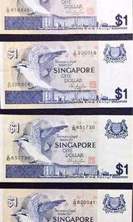 S$1 note bird series - $500 EACH piece