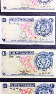 S$1 note orchid series - $1000 EACH piece
