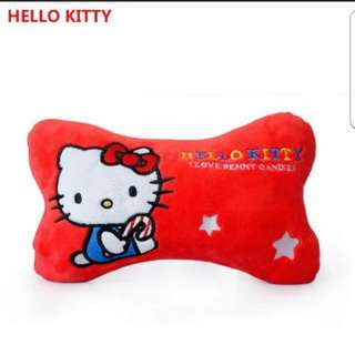In stock sanrio hello kitty car head cushion a set of 2 size is 28 × 9 × 18cm