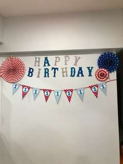 Birthday Bunting and Decorations
