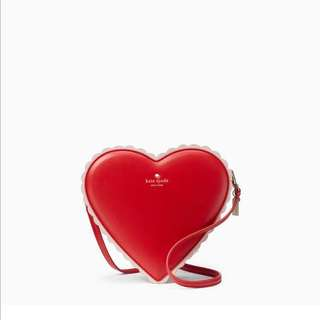 SALE Kate Spade Yours Truly Chocolate Heart Shaped Box Crossbody Slingbag Red