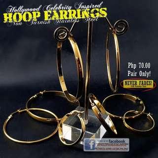GOLD Hoop Earrings - No Fading (Php 70.00/Pair)