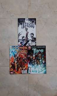 Thor: Secret Invasion (Marvel Comics 3 Issues Limited Series; #1 to 3, complete story)