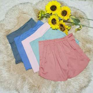 Pastel Colors Highwaist Shorts