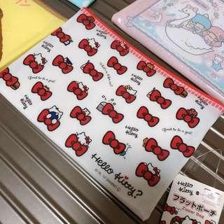 🇯🇵全新日本Sanrio Hello Kitty拉鍊袋 Zipper Bag