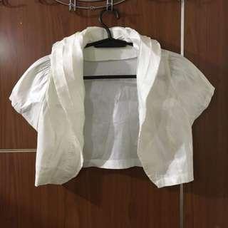 Occasions White Bolero (shoulder cover ups)