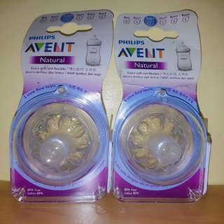 Avent natural nipple New design Slow flow 2holes