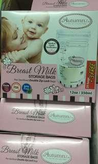 (25 +3 free) BN Sealed Autumnz Breast Milk Storage Bag 12oz 28pcs
