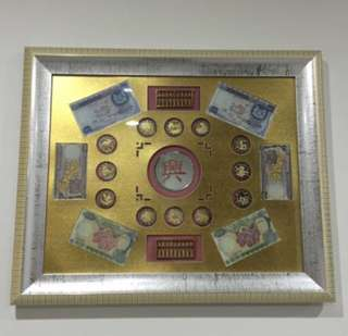1967 Orchid Series Dollars Note On Frame, Heng Heng Money Come....💰 💰💰 Framed and kept well in good condition.