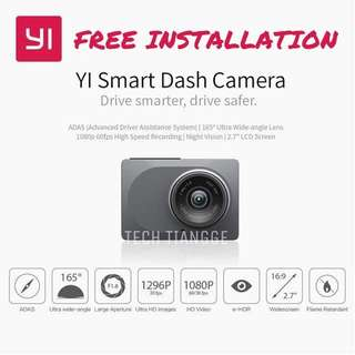 Xiaomi Yi Dashcam + FREE INSTALLATION + FREE 1x 32GB Micro SD Card