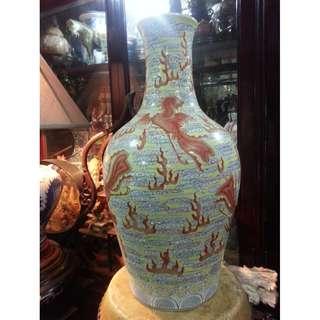 China Gindezhen Porcelain vase display ( Fire Phoenix )