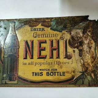 Vintage metal plate sign wall decor