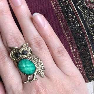 [FREE ITEM] Owl Ring (cincin burung Hantu Full Body)