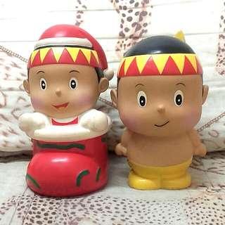 印地安公仔造型娃娃存錢桶一對