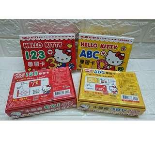 現貨 !!  超低價!!  Hello Kitty 彩色學習卡 (123 或 ABC ) 台灣到港