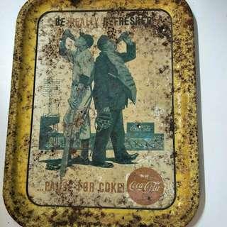 Coke vintage metal plate