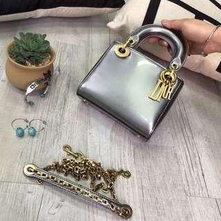 Lady Dior Mini Silver
