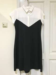[FREE ONGKIR] dress cantik itam putih