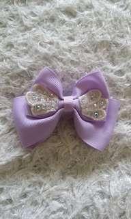 Baby bow hair clip ribbon