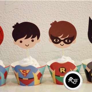 Superhero Cake Topper & Wrapper
