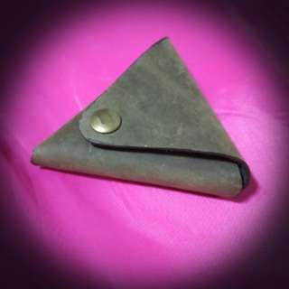 Handmade 1piece coin pouch (Khaki green)
