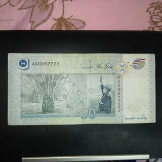 50 tahun kemerdekaan RM50 AA0062222