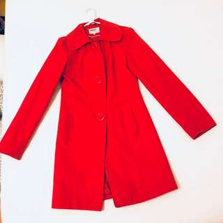 Roxy by Louie Louie Red Spring Coat Jacket Vintage Retro Rockabilly Pinup Size S