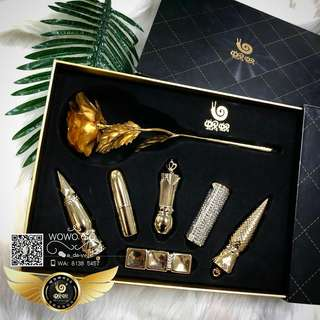 WOWO PRE-LAUNCH LIMITED EDITION 5+1 LIPSTICK WITH 24K GOLD PLATED ROSE💝!! 👑