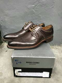 Sepatu pantofel brown mario Cuomo original leather italia