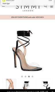 Simmi lace up heels