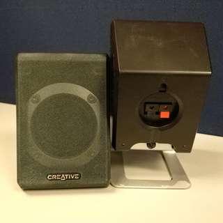 Mini Speaker creative 小喇叭一對 2.5吋 全音單位
