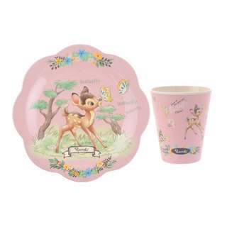[PO] Disney Japan Blooming Garden Plate and Cup Set Bambi