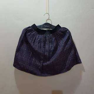 Mini balloon printed skirt ( garterized waistline )