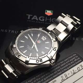 SOLD-       39mm TAG HEUER AQUARACER With Boxes & Card