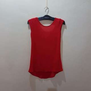 ZARA orange low back top