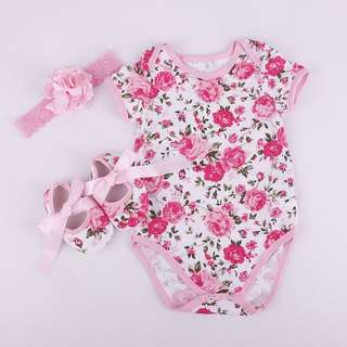 3PCS. SET OF FLORAL ONSIE.