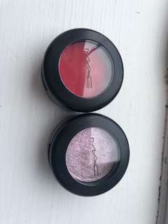 Mac eye shadow& powder blush
