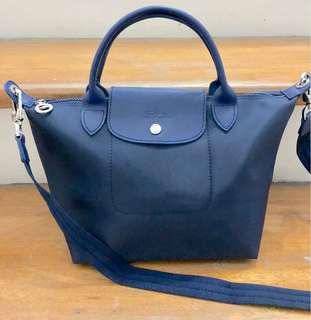 Longchamp Le Pliage Neo Small short handle - NAVY BLUE
