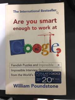 Are you smart enough to work at Google? by William Poundstone (International Bestseller)