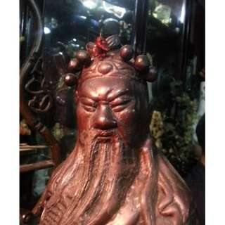Vintage Republic China Bronze Sculpture ( God of the War ) Kuan Tee Statue.