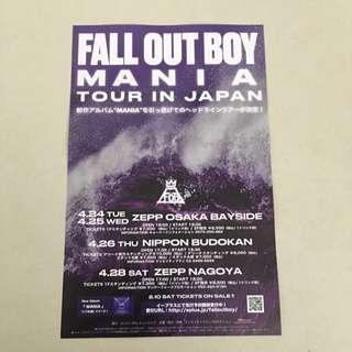Fall Out Boy Japan Tour mini Poster