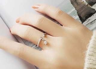 包郵 星星吊飾戒指