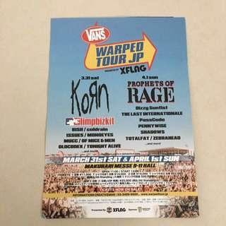 Nu Metal Vans Warped Tour Japan! Korn, Limp bizkit