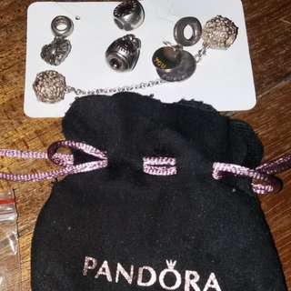 Pandora s925 charms pendant and safety chain